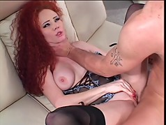 Horny chick loves a big cock up her ass
