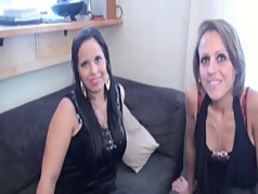 Fucking Linda and Anita on the couch