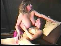 Big titty lesbian dykes love to dildo fuck doggy style and lick their clits