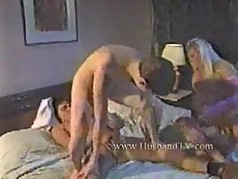 Young Boy get fucked from 2 MILFS.Threesome