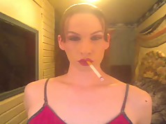 MILFY CHAINSMOKING brunette