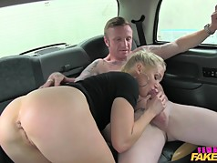 FemaleFakeTaxi Old flame taken on a detour ride