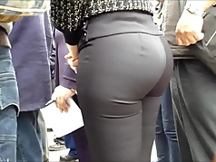sexy ass MILFY tight black pants