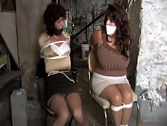 Kellian and Elane tied and gagged by Vanessa