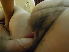 Lucia hairy pussy close up fucking