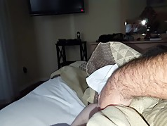 combing my fingers through her tired hairy pussy,