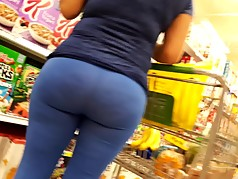 Latina Bubble in see thru blue tights pt. 2