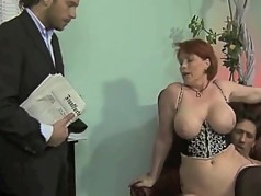 chubby german milf threesome