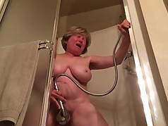 Wife Enjoying Shower