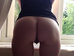 That Perfect milf ASS & pussy solo Tease