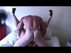 Cuckold - Taking a good pounding - Moaning and cum