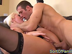 Bigtitted motherinlaw assfucked in taboo duo