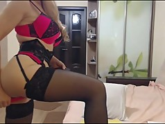 Busty russian MILF in lingerie