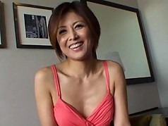 Japanese Milf watches guy