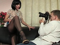 Black Pantyhose and Heels Milf fucked