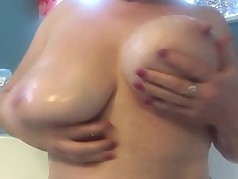 Bathtub Play With Soap for Huge Natural MILF Tits