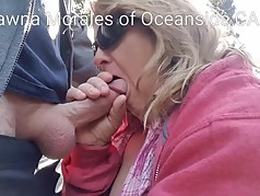 Shawna Morales of Oceanside CA sucking cock in Balboa Park
