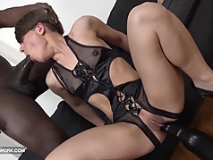 Milf fucked by big black cock hardcore interracial sex