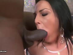 Hot Brunette hardcore interracial anal fucked by black cock