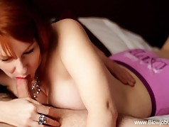 Redhead MILF Beautiful Blowjob
