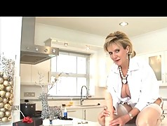 Exciting Lady Sonia and her huge favorite dildo.