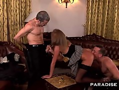 MILF Maid serves DP