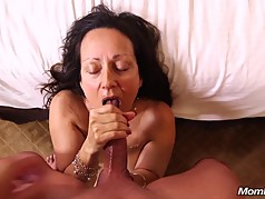 Old Granny Slut loves Sucking Young Cock POV