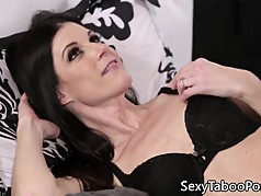Stepmom milf seducing younger guy into sex