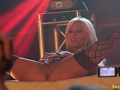 busty Milf lapdance on stage