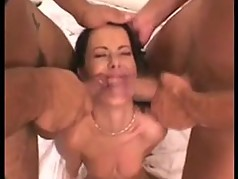 Hot mon and daughter in foursome