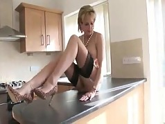 British MILF Comes Home And Takes Off Her Dress