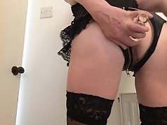 Unzip me and fuck my wet shaved pussy and arse