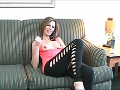 Hot MILF JOI on clamped nipples