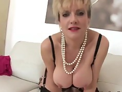 British MILF Strips And Shows Her Heavy Tits