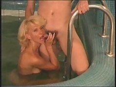 Hot Blonde Milf Fucks By The Pool